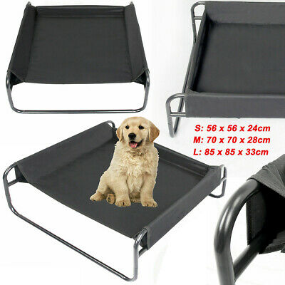 UK S/M/L Portable Waterproof Dog Pet Elevated Bed Outdoor Raised Camping Basket