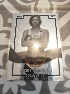 Michelle Waterson Topps UFC Trading Card 2017 Top of the Class Refractor