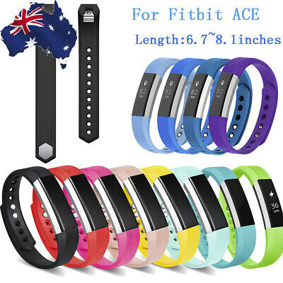 TPU Sports Replacement Band for Fitbit Ace Ultrathin Wristbands 6.7-8.1inches AU