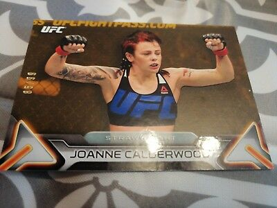 Joanne JoJo Calderwood UFC Trading Card Topps 2016 Knockout Gold /99