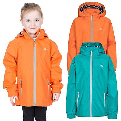 Trespass Fenna Girls Waterproof Jacket With Detachable Hood Windproof Rain Coat