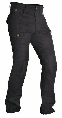 Oxford SP-J4 Reinforced with Protective Kevlar Lining Motorcycle CE Jeans Black