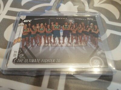 TUF 20 Herrig Calderwood Esparza Rose UFC Trading Card Topps 2015 Chronicles