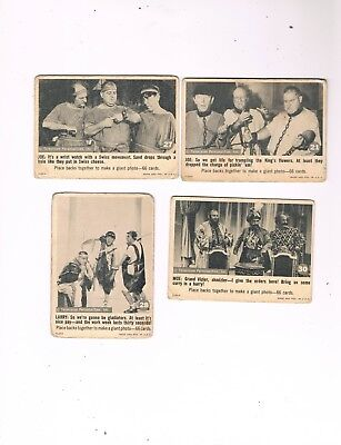 1966 Fleer Three Stooges Trading Card Lot...cards #21, #27, #28 & #30