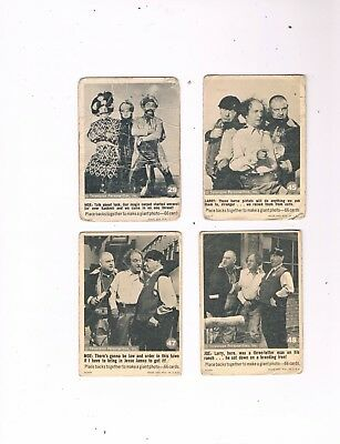 1966 Fleer Three Stooges Trading Card Lot...cards #29, #45, #47 & #48