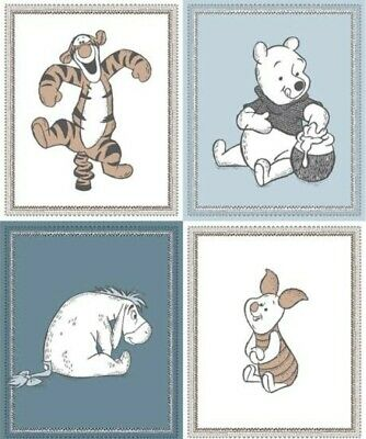 Disney Winnie The Pooh * Multi All Character Quilt Panel * New * Free Post *