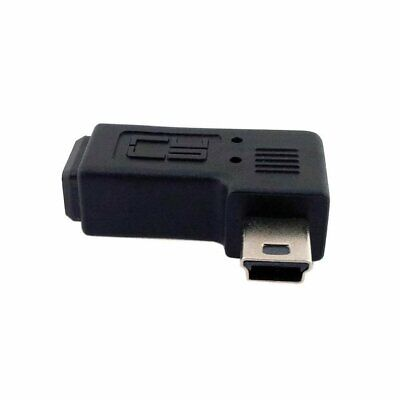 Mini USB Male To Female 90 Degree Extended Adapter Left Right Angle Adapter E5