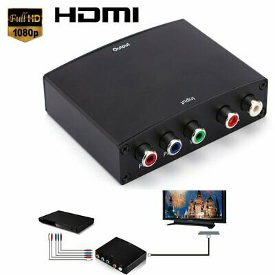 HD Video RGB Component YPBPR to HDMI +L/R Converter Adapter For TV US UK EU FN