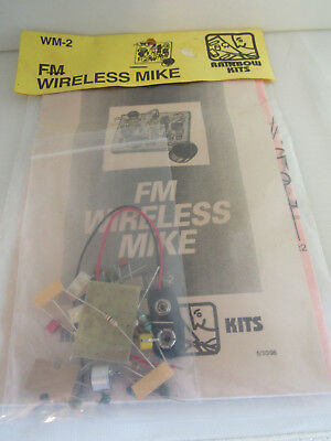 NOS Vintage Electronic Rainbow WM-2 FM Wireless Mike Microphone Audio Kit USA