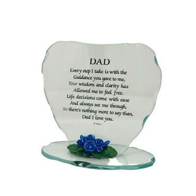 Glass Plaque Cute Special Gift For Nanna Beautiful Poem Porcelain Flower Frame