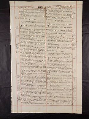 1680 Oxford First Folio King James Bible Leaf*isaiah 11*christmas-*root Of Jesse