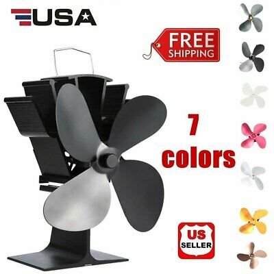 4-Blade Heat Thermal Powered Stove Fan for Wood / Log Burner/Fireplace - Eco FST