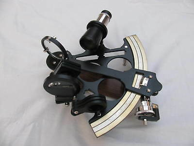 "Maritime Brass Royal Gift Black Coating Powder Sextant 8"" Working Ship Best Item"