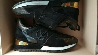 a92ab3d8d5b5 Authentic Louis Vuitton Run Away 1A3Cw4 Black Gold Sneakers Eu 36.5-37 Us  6.5-