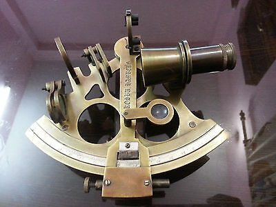 "6"" Nautical Sextant~Antique vintage Navigation Sextant~Working Brass Sextant."