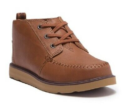 18109b7d4cc Toms Synthetic Leather Boots Youth Boys Chukka Mid Top Brown Choose Your  Size