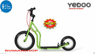 NEW TOP BRAND YEDOO PUSH KICK ROLLER SCOOTER STEP MODEL WZOOM green