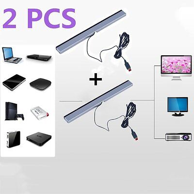 2XBest New Wired Infrared Ray Sensor Bar for Nintendo Wii Remote Controller ZK