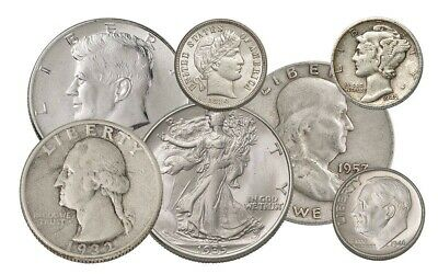 90% Silver Coins $2.25 Face-Value US Coins.