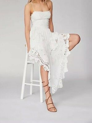 43d9c2a0daf9 FREE PEOPLE LOVE To Love You Cutwork Dress in White Size 12 NWT ...