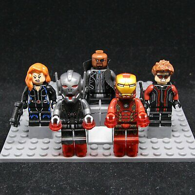 2019 5pcs Set avengers nick fury iron man black widow Mini Figures fit Lego