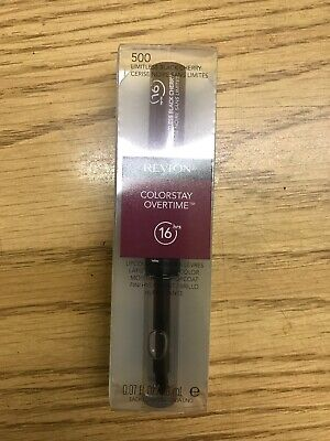 Lot Of 2 Revlon ColorStay Overtime Lipcolor, Limitless Black Cherry 500 Nib