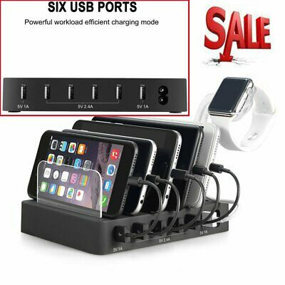 Lot 6/15 Port Multi USB Charging Station Stand Charger Dock For Phone Tablet ST