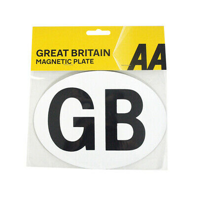AA Car GB Sticker Magnetic Plate European Travel - NEW STOCK