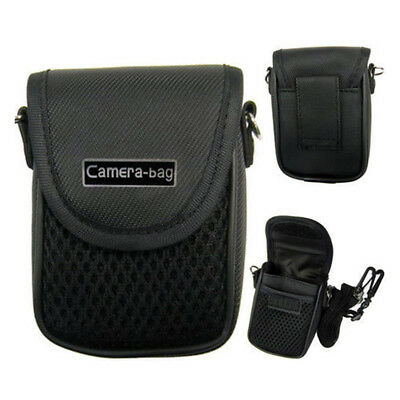 Compact Camera Case Universal Soft Bag Pouch + Strap Black 3size  MO0