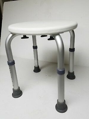 "HealthSmart Shower Seat Stool 14.5 to 19.5"" high Exc Condition"