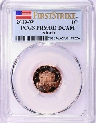2019 W Proof Lincoln Cent ~ First Ever West Point ~ Pcgs Pr69Dcam ~ Fs ~ Shield