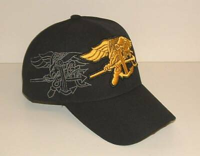 d1c7f80a16b2c US NAVY SEAL 3D Embroidered Licensed Military Black Ball Cap Hat ...