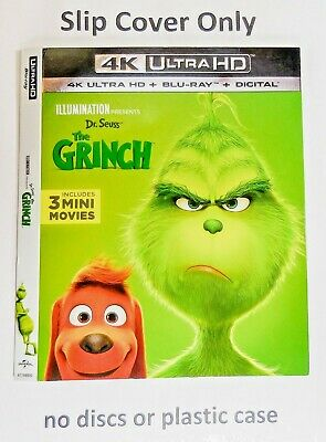 Dr. Seuss', the Grinch 4K Ultra HD -  Embossed Slip Cover Only (no blu ray)