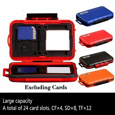 Bags Holder Case Box Carrying Pouch Memory Card Storage for CF/SD/TF 24 Slots SC