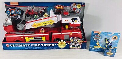 Paw Patrol Ultimate Fire Rescue Truck With Mighty Pups j1341