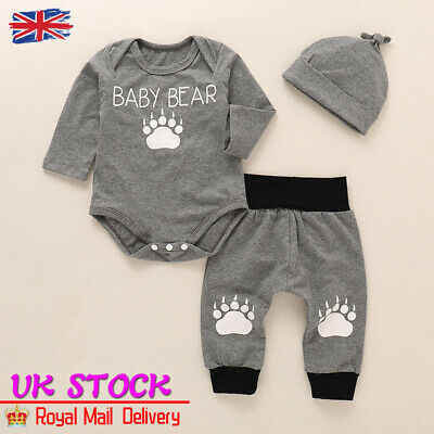 Baby Boys Girls Dog Hoodie Outfits Long Sleeve Shirt Tops Pant 2Pcs Clothes Set