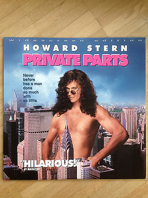 Howard Stern Private Parts Movie Laserdisc Laser Disc Widescreen Comedy USA 1997