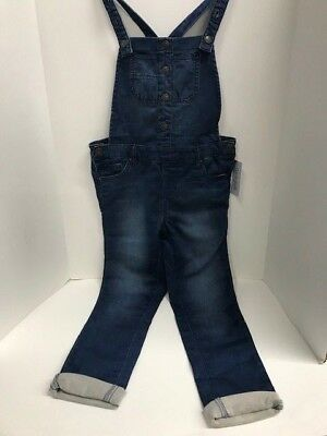 Cat & Jack Overalls Childs Size Medium 7/8 Blue Denim Brand New With Tags
