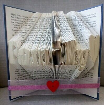 Folded book art ANY WORD with up to 7 characters PERSONALISED CUSTOM MADE GIFT