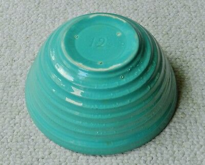 """Vintage #12 Bauer Turquoise Green Ringware Mixing Bowl California Pottery 9.5"""""""