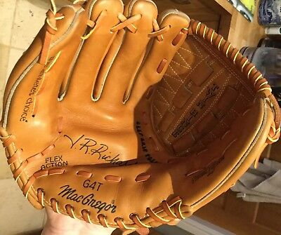 Mac Gregor Baseball Catchers Mitt And Ball Rawhide Laced All Leather Twin Hinge