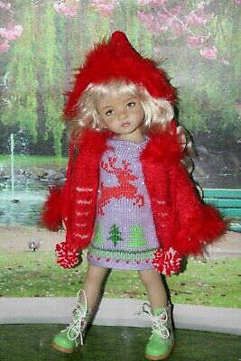 "Outfit FOR Dianna Effner 13"" Little Darling Doll=Dress Coat Hat BOOTS = NEW"