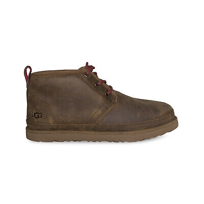 91c3781e204 UGG NEUMEL WATERPROOF Grizzly Sheepskin Chukka Ankle Men's Shoes Size Us 10  New