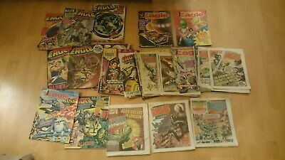 Vintage Approx 50  EAGLE Comics from the  1980's free UK delivery