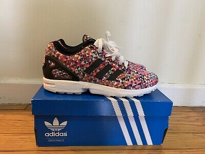 fb5c9993beded ADIDAS ZX FLUX Multi-color Prism Size 9.5 nmd ultra boost yeezy ...