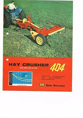 Vintage farm brochure NEW HOLLAND Hay Crusher 404