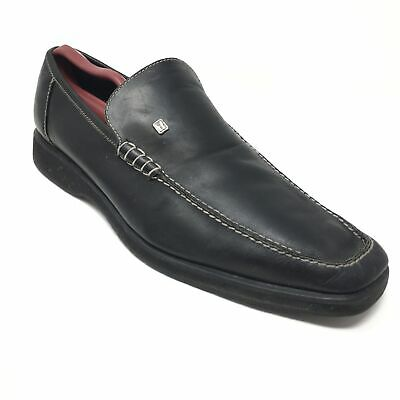 60e09ce0dbe Men s Moreschi Loafers Shoes Size 11.5M Black Leather Slip On Made Italy G7