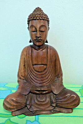 Vintage Buddha Wooden Carved Statue from Bali 21 cm High