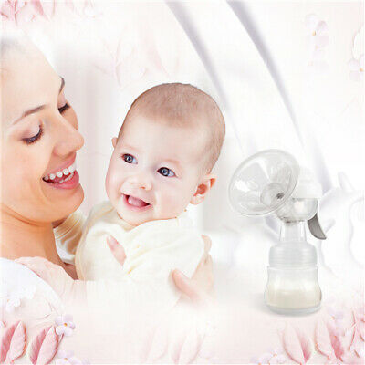 KIDOME RH318 Compact Manual Breast Pump Milk Suction Extractor 150ml Bottle Teat