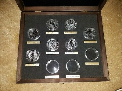 Queen Beasts Silver 7 Coins United Kingdom With Presentation Box